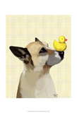 Dog and Duck Prints by  Fab Funky