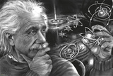 JDH- Einstein Quazar Prints by James Danger Harvey