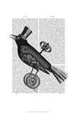Steampunk Crow Posters by  Fab Funky