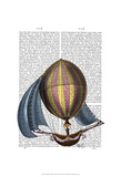 AirShip with Blue Sails Poster by  Fab Funky