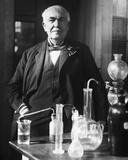 Thomas Edison in His Laboratory Photographie