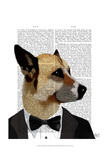 Debonair James Bond Dog Posters by  Fab Funky