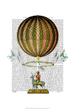 Hot Air Balloon Zephire Print by  Fab Funky