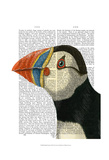 Puffin Portrait Posters by  Fab Funky