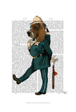 Basset Hound Policeman Print by  Fab Funky
