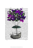 Butterfly Airship 2 Purple and Green Prints by  Fab Funky
