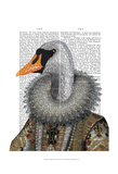 Elizabethan Swan Posters by  Fab Funky