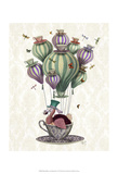 Fab Funky - Dodo Balloon with Dragonflies - Poster