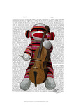 Sock Monkey and Cello Prints by  Fab Funky