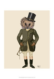 Hedgehog Rider Full Prints by  Fab Funky