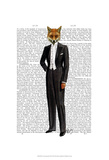 Fox In Evening Suit Full Prints by  Fab Funky