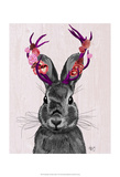 Jackalope with Pink Antlers Affiches par  Fab Funky