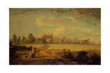 A View of Eton from the Playing Fields, 1822 Giclee Print by Edmund Bristow