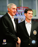 John Stockton & Jerry Sloan 2009 Hall of Fame Induction Ceremony Photo