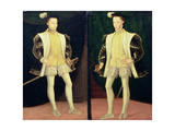 Left to Right Francis II (1544-60) and Charles IX (1550-74) of France Giclee Print by Francois Clouet