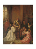 Cromwell's Family, Interceding for the Life of Charles I Giclee Print by William Fisk