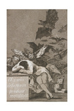 El Sueño De La Razón Produce Monstruos (The Sleep of Reason Produces Monsters) Giclee Print by Francisco de Goya