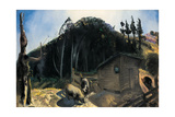 Three Pigs and a Mountain, C.1922 Giclee Print by George Wesley Bellows