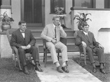 English Boxer William Thomas Wells (Bombardier Billy Wells) and Friends, C.1910 Photographic Print by William Davis Hassler