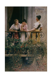 The Balcony Giclee Print by Eugen Von Blaas