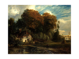 Caretaker's Cottage in the Forest of Compiegne, 1826 Giclee Print by Paul Huet