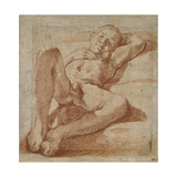 Study of a Nude Boy Giclee Print by Lodovico Carracci
