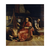Saint Luke Painting the Madonna Giclee Print by Frans Floris