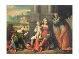Holy Family Giclee Print by Benvenuto Tisi Da Garofalo