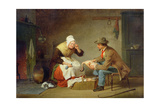 Bargaining (The Christmas Turkey) C.1858 Giclee Print by Francis William Edmonds