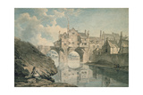 Elvet Bridge, Durham, 18th Century Giclee Print by Thomas Hearne