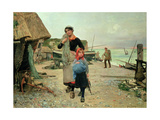 Fisherfolk Returning with their Nets, 1882 Giclee Print by Henry Bacon