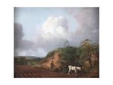 Peasant Ploughing with Two Horses, 1750-1753 Giclee Print by Thomas Gainsborough