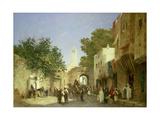An Arab Street Scene, 1872 Giclee Print by Honore Boze