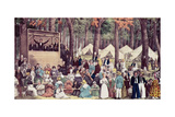 Methodist Camp Meeting, 1836 Giclee Print by Edward Williams Clay