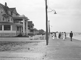 View Along the Boardwalk from Beach 125th Street, Belle Harbor, Queens, July 11, 1915 Photographic Print by William Davis Hassler