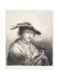Young Man Wearing a Plumed Hat, 1642 Giclee Print by Ferdinand Bol