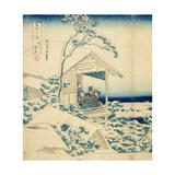 Snowy Morning at Koishikawa, C.1831-34 Giclée-Druck von Katsushika Hokusai