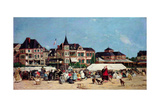 Casino De Trouville Giclee Print by Eugene Louis Boudin