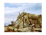 Under the Breakwater, C.1863 Giclee Print by Charles Napier Hemy