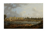 Place De La Concorde, C.1783 Giclee Print by Pierre-Antoine Demachy