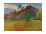 Tahitian Landscape, 1891 Giclee Print by Paul Gauguin