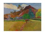 Tahitian Landscape, 1891 Giclee Print by Paul Gauguin