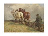 Ploughing, C.1900-19 Giclee Print by John Atkinson