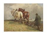 Ploughing, C.1900-19 Giclee Print by John Atkinson