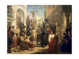 Good Friday Procession at Seville Giclee Print by Nicaise De Keyser