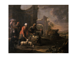 A Man with a Pushcart Full of Vegetables Giclee Print by Willem Van The Elder Herp