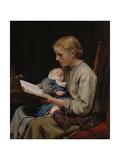 Rose and Bertha Gugger, 1883 Giclee Print by Albert Anker