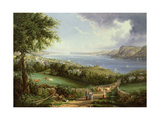 View of the Hudson River from Near Sing Sing, New York, C.1850 Giclee Print by Robert The Younger Havell