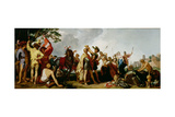 The Coronation of Alexander the Great (356-323 BC) Lámina giclée por Abraham Bloemaert