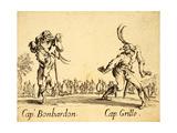 Captains Bonbardon and Grillo, 1622 Giclee Print by Jacques Callot